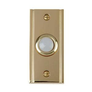 carlon wired door bell push button solid brass 6 per