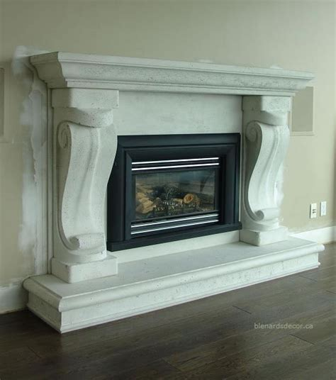 fireplace mantel 08 5 limestone