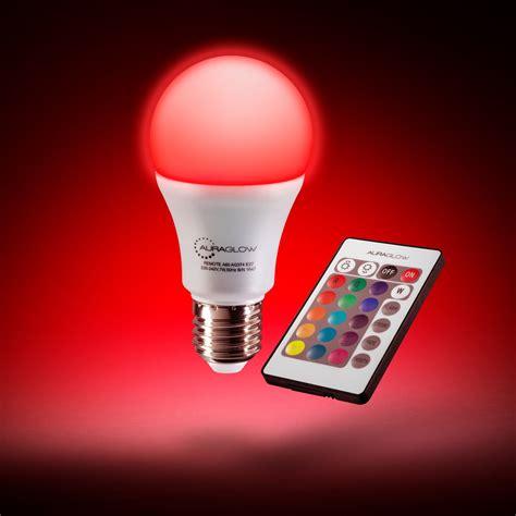 How To Change A Led Light Bulb Auraglow 7w Remote Colour Changing Led Light Bulb