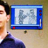 magna doodle drawings on friends 90s animated gif