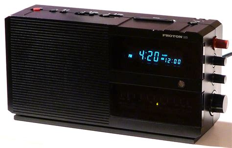 Proton Clock Radio by Proton 320 Clock Radio Atomicspacejunk