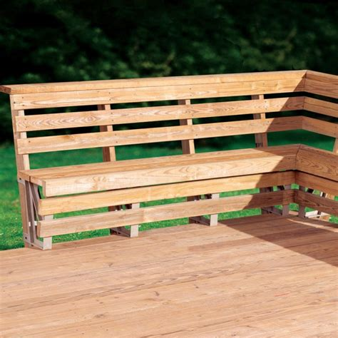 bench for deck bench brackets for deck or dock rockler woodworking and hardware
