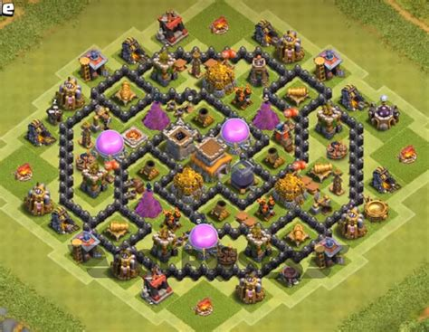 clash of clans best th 8 trophyclan war base th8 4 top 10 best th8 hybrid base 2018 new anti everything