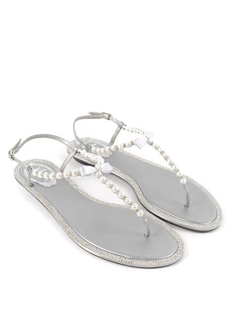 rene caovilla pearl sandals pearl and rhinestone sandals by rene caovilla sandals