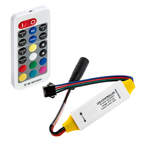 Led Rgb Remote rgb led controller w lc4 connector wireless rf remote w dynamic color changing modes 5