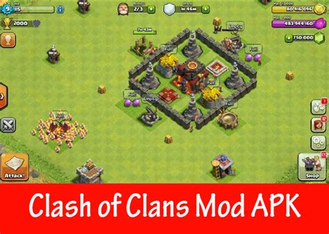 clash of clans mod apk version unlimited gems gold and elixir