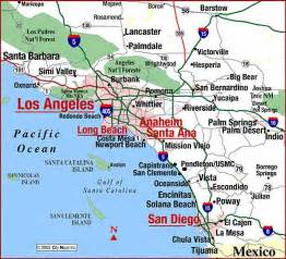 map of southern california highway map of southern ca coast aaccessmaps