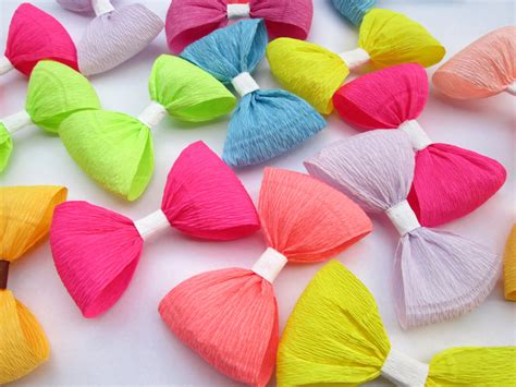 Make Crepe Paper Decorations - 12 paper bows crepe paper bows birthday decoration wedding