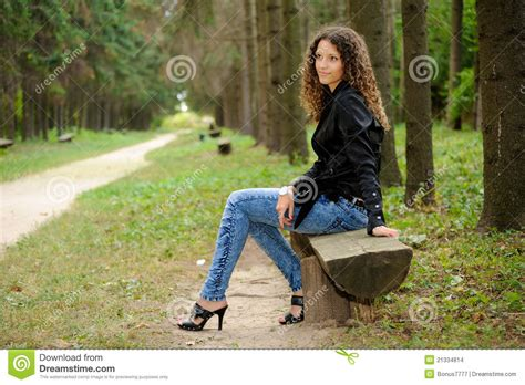 bench girl girl on a bench stock images image 21334814