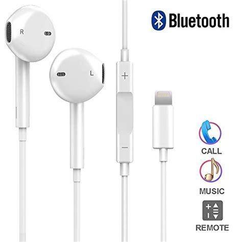 iphone 7 headphones dpkiko lightning iphone earbuds with microphone earphones stereo headphones