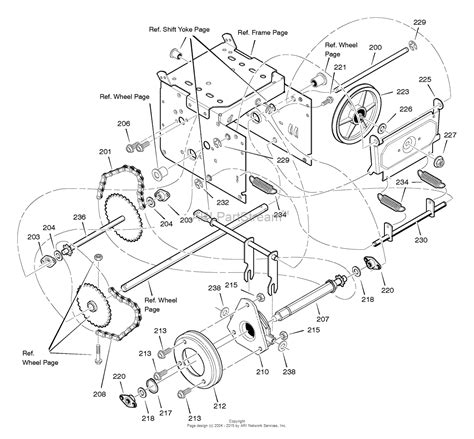 murray parts diagram murray 627854x54a dual stage snow thrower 2005 parts