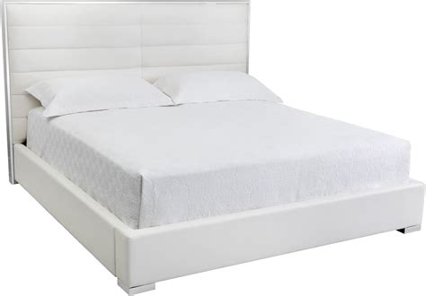 white queen platform bed avalon white queen upholstered platform bed 100682