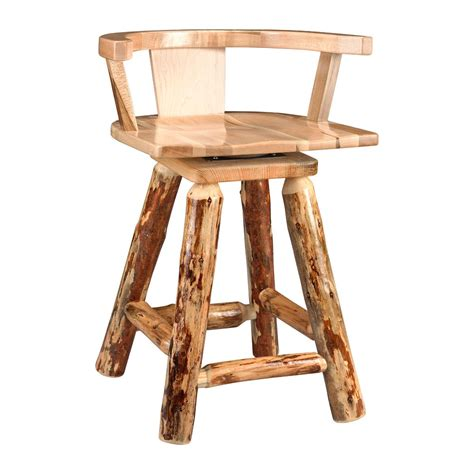 rustic log pub stool king dinettes custom dining