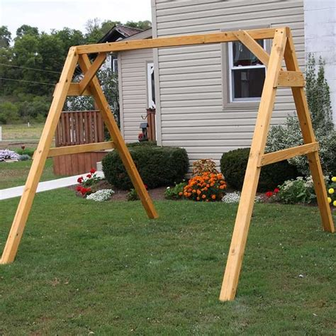 wood porch swing with frame centerville amish heavy duty a frame for porch swings