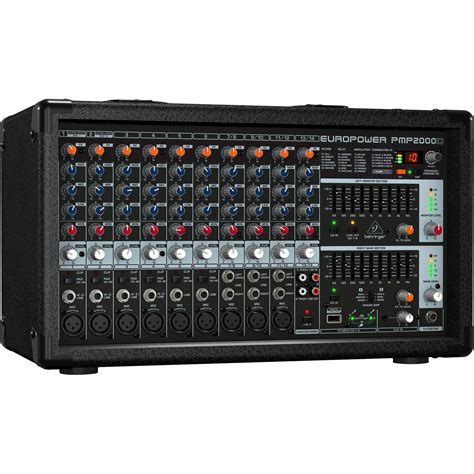Power Mixer Behringer 6 Channel behringer pmp2000d 2000w 14 channel powered mixer