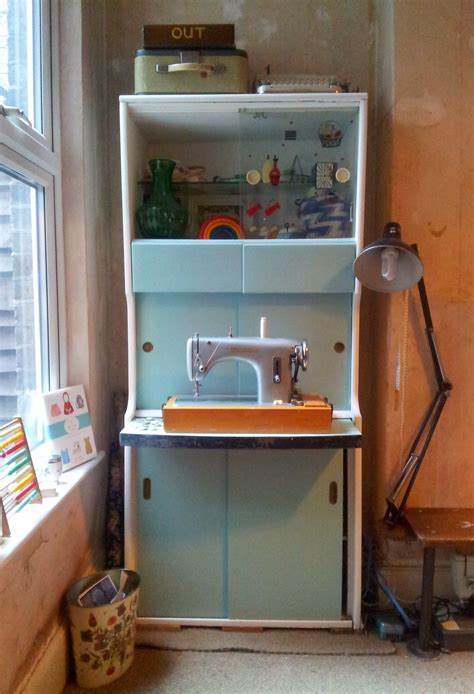 How To Makeover Kitchen Cabinets 1950 S Cabinet Makeover My New Craft Station Lulastic
