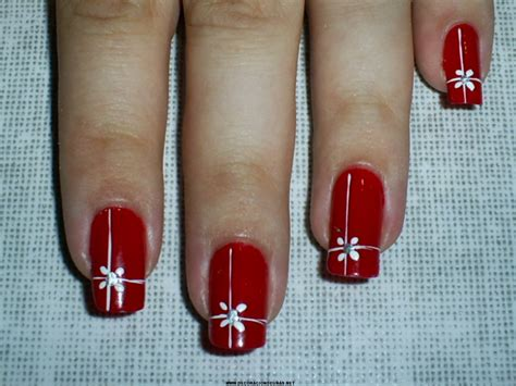 imagenes de uñas acrilicas en color rojo u 241 as decoradas rojas decoraci 243 n de u 241 as te ense 241 amos a