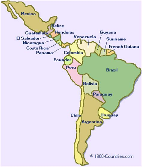 map central and south america maps of south america and central america