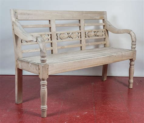 teakwood benches dutch colonial teak wood garden bench at 1stdibs