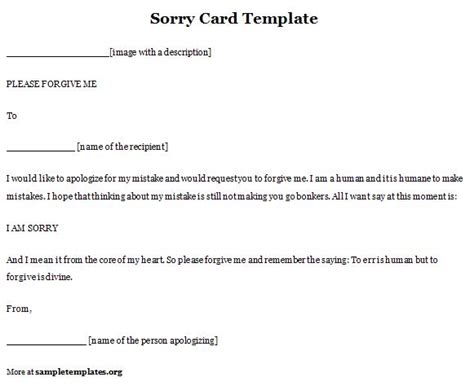 Apology Card Template Free by Apology Card Template 28 Images Apology Card Template