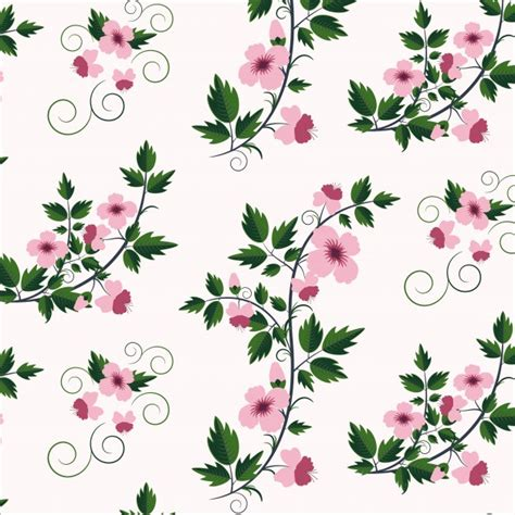 flower pattern design vector vector retro floral pattern with flowers vector free