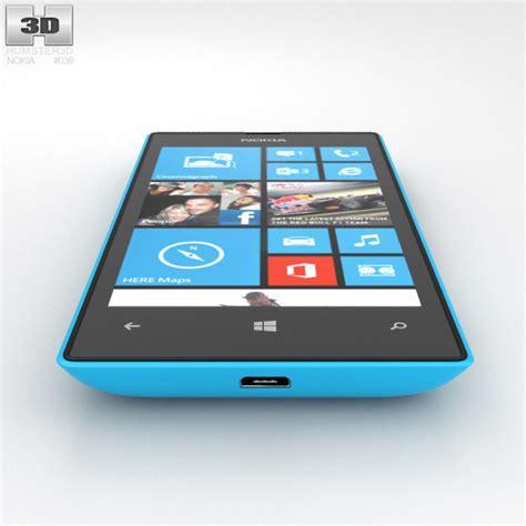 Nokia Lumia Cyan nokia lumia 520 cyan 3d model humster3d