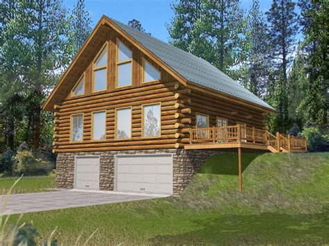 log and stone house plans stone creek log cabin home plan 088d 0064 house plans