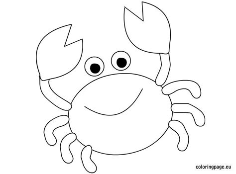 easy crab coloring page crab coloring page children s sunday crafts and lessons