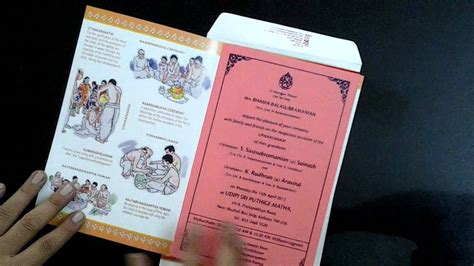 two fold upanaynam invitation cards from artist maya youtube