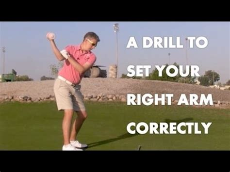 shoulder movement in golf swing golf drill the correct right arm shoulder movement