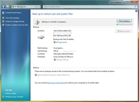 windows image backup windows 7 built in backup recovery utility overview