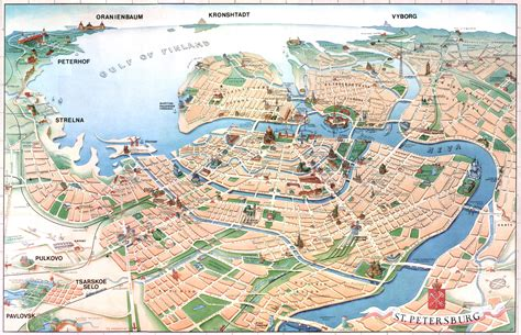 russia tourism map st petersburg tourist map st petersburg russia mappery
