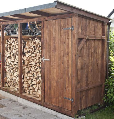 Gartenhaus Mit Holzlager by Schuppent 252 R Bauen Vesab De