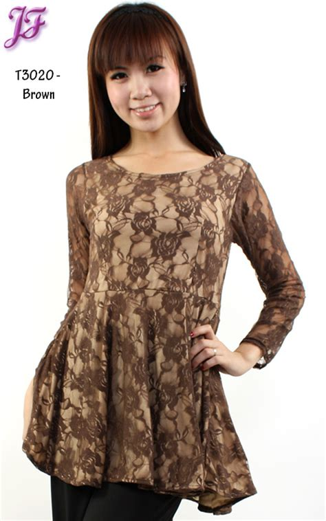 Lacely Peplum curvy closet to plus size fashion and accessorries peplum blouse code t3020
