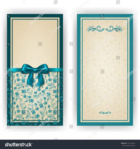 Place Card Template Stock by Template Luxury Invitation Card Lace Stock Vector