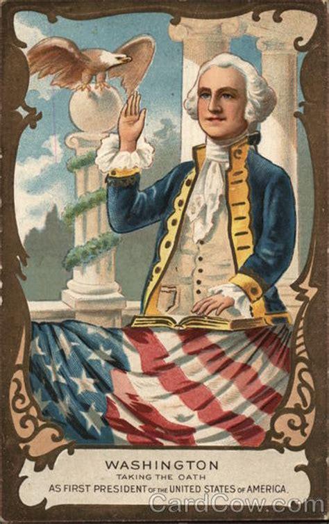 George Being George painting of george washington being sworn in as president
