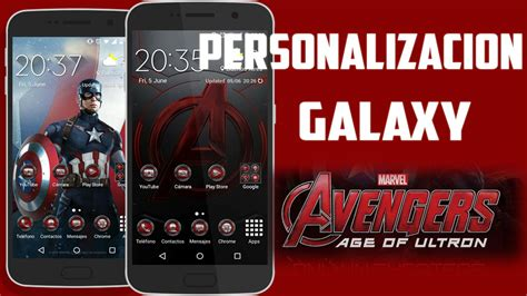 theme line android avengers personalizacion galaxy avengers age of ultron theme