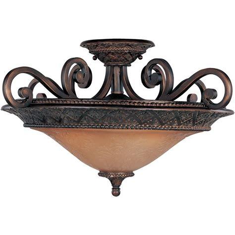 bronze semi flush mount light canarm carlina 2 light oil rubbed bronze semi flush mount