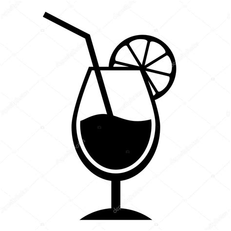 cocktail clipart black and white cocktail simbolo vettoriali stock 169 arcady 73346303