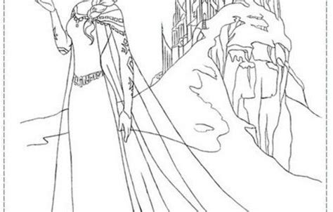 frozen coloring pages elsa ice castle pin by becky linton miller on kids pinterest