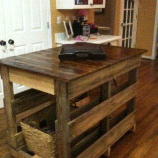 kitchen island made out of pallet wood wooden pallet kitchen island pallets cable spools