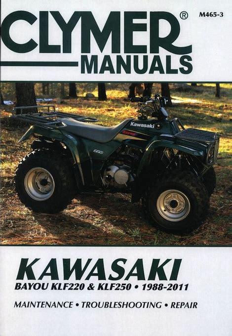 kawasaki bayou klf220 klf250 atv repair manual 1988 2011