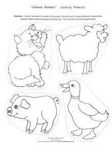 animal cutouts templates best photos of farm animal templates for preschool farm