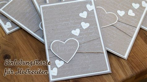 Einladung Hochzeit Basteln by Karte Hochzeitseinladungen Selber Basteln Herzen