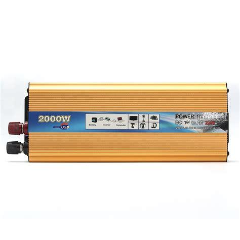 Power Inverter Sine Wafe Kaller 24v 2000w 2000w portable car modified sine wave power inverter converter dc 24v to ac 220v alex nld