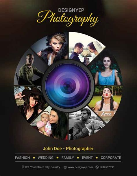 Photography Free Psd Flyer Template Photography Template