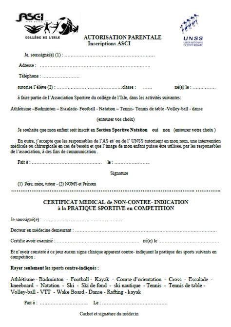 Exemple De Lettre Autorisation Parentale Pour Voyager Modele Autorisation Parentale Unss Document