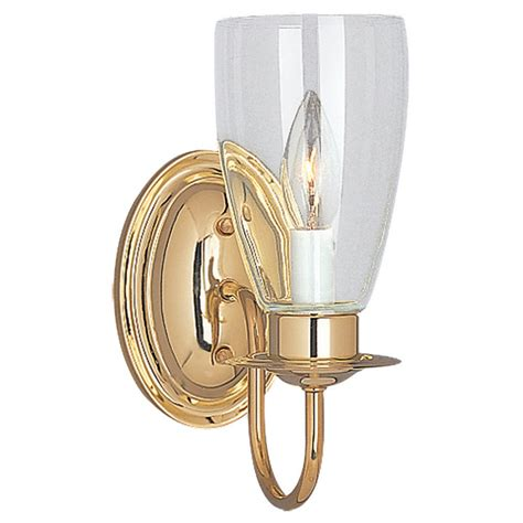 Brass Bathroom Lighting Shop Sea Gull Lighting Polished Brass Bathroom Vanity Light At Lowes