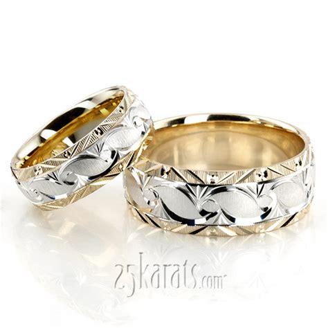 Hh Set Matt hh fc101066 14k gold bestseller grooved fancy designer wedding ring set