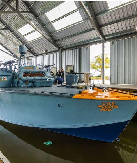 pt boat deck tour pt 305 gets a colorful and deceptive paint scheme the